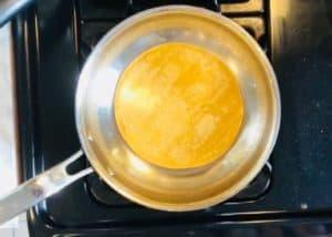 Warming the tortillas