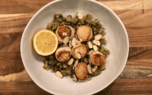 Pan Seared Scallops by Gobble