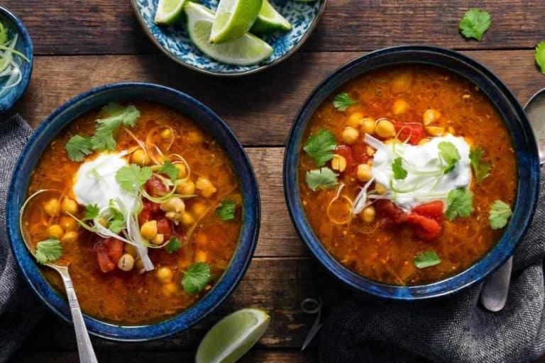 Burmese chickpea-tomato soup with lemongrass