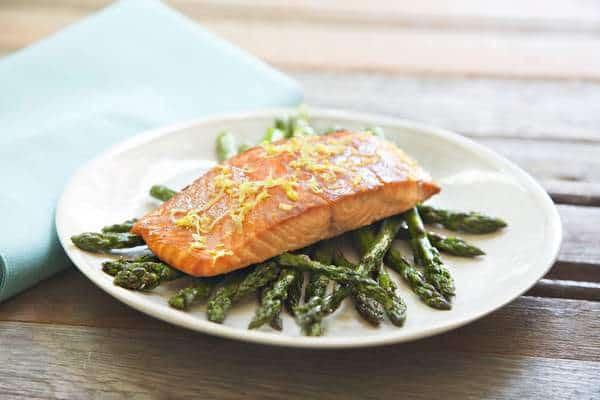 Dijon Salmon and Roasted Asparagus