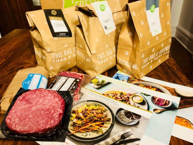 Hello Fresh Box meal delivery bags