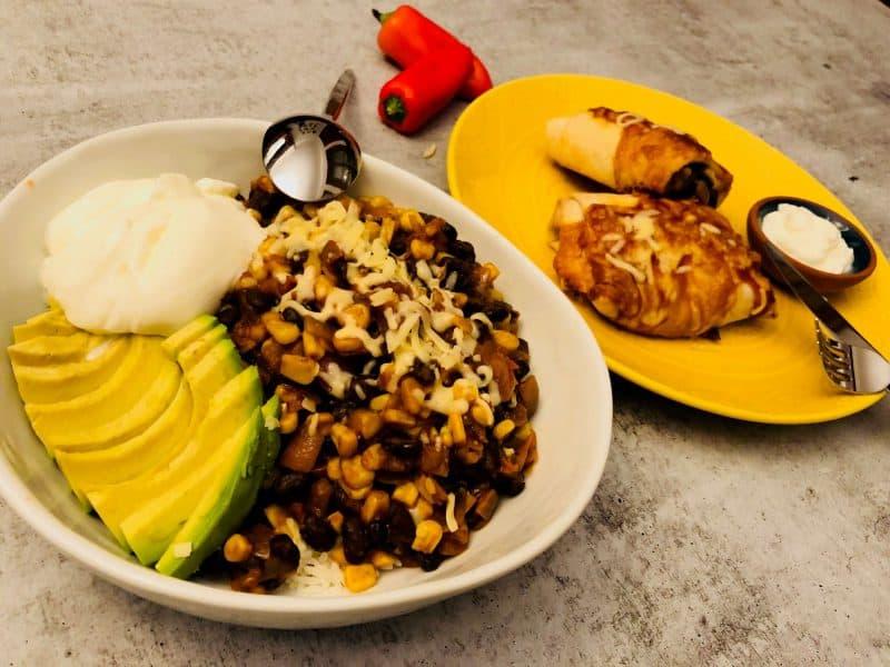Corn and Black Bean Burrito by Home Chef