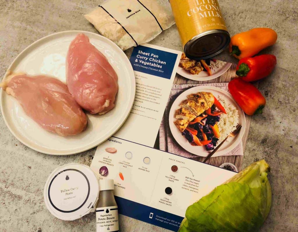 Curry Chicken & Vegetables by Blue Apron