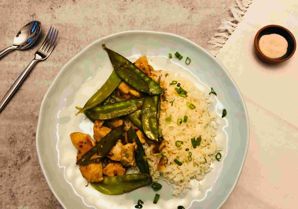 Spicy Chicken & Snow Pea Stir-Fry by Blue Apron
