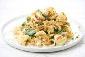 Creamy Cauliflower Pasta and crispy breadcrumbs