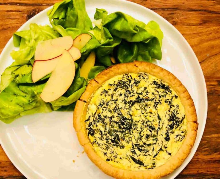Kale and Ricotta Tarts