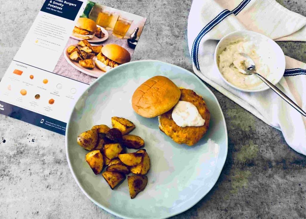 Salmon Burgers & Smoky Potatoes