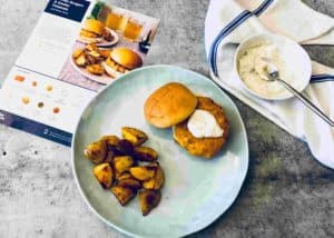 Salmon Burgers & Smoky Potatoes
