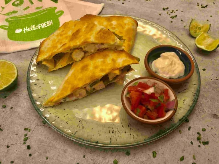 Chicken pineapple quesadillas