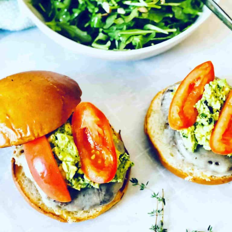 mushroom burgers by Plated