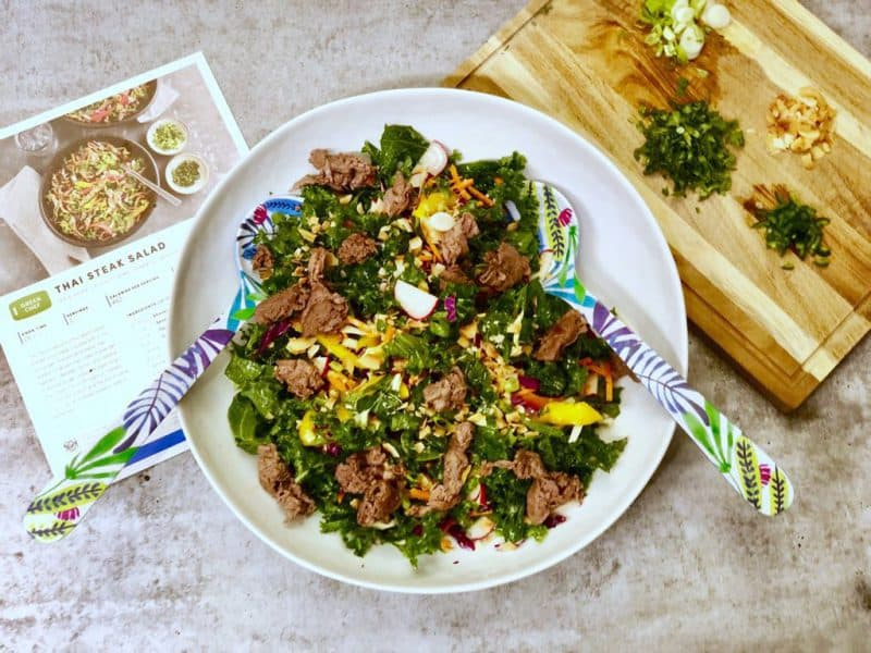 Thai Steak Salad with Kale by Green Chef