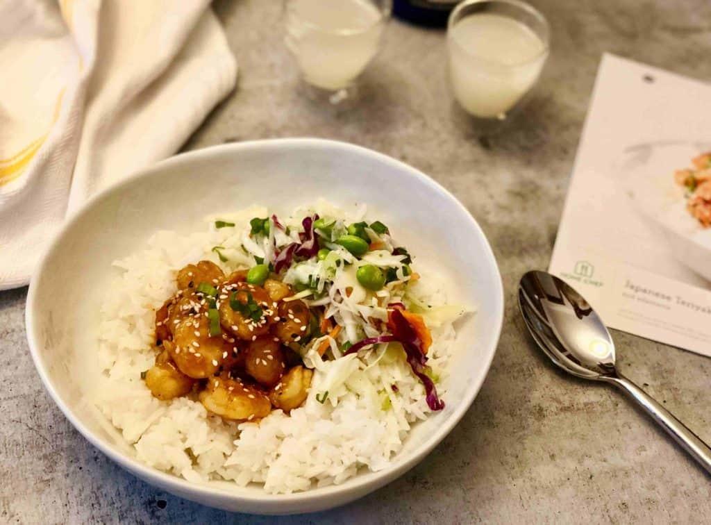 Home Chef - Japanese teriyaki shrimp bowl