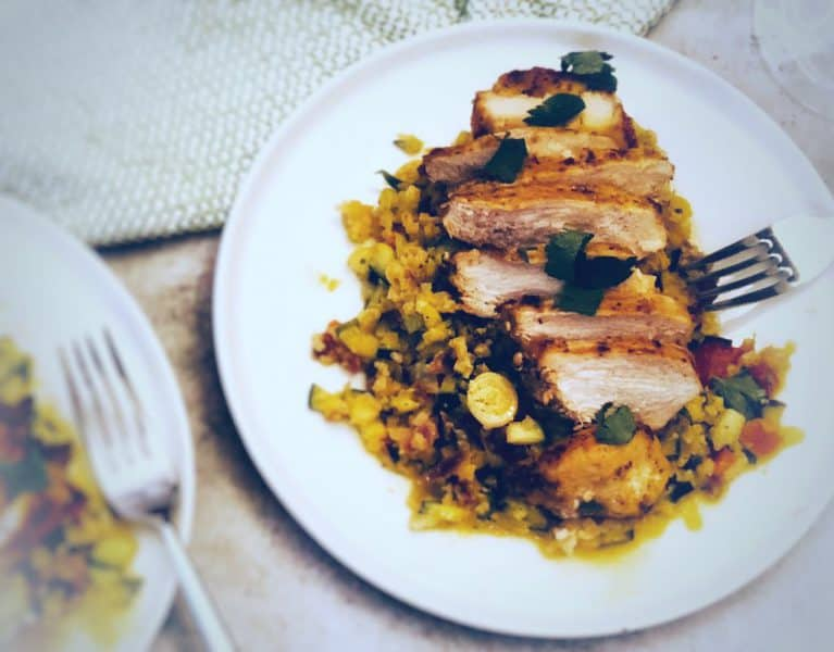 Greek Chicken with Cauliflower Tabbouleh by Green Chef