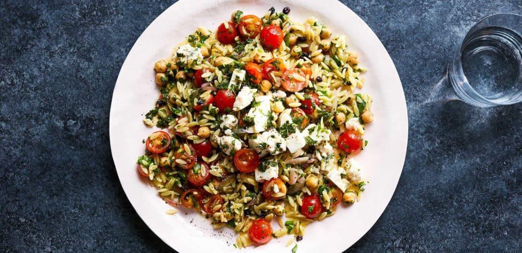 Chickpea and Orzo Salad