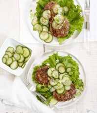 Asian Spiced Turkey Burgers + Quick Pickles