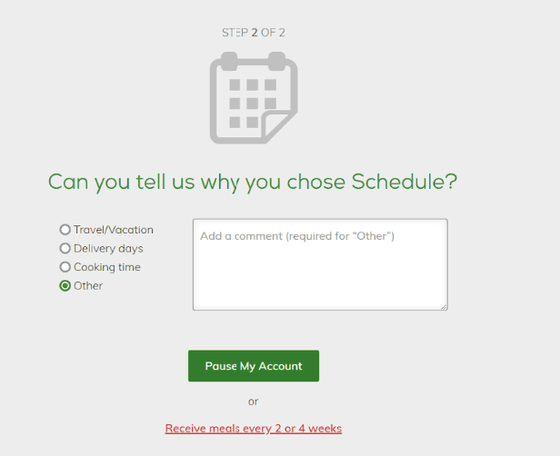 why you want to cancel