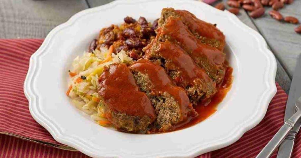 Southwest Bison Meatloaf with Smoky Tomato Glaze
