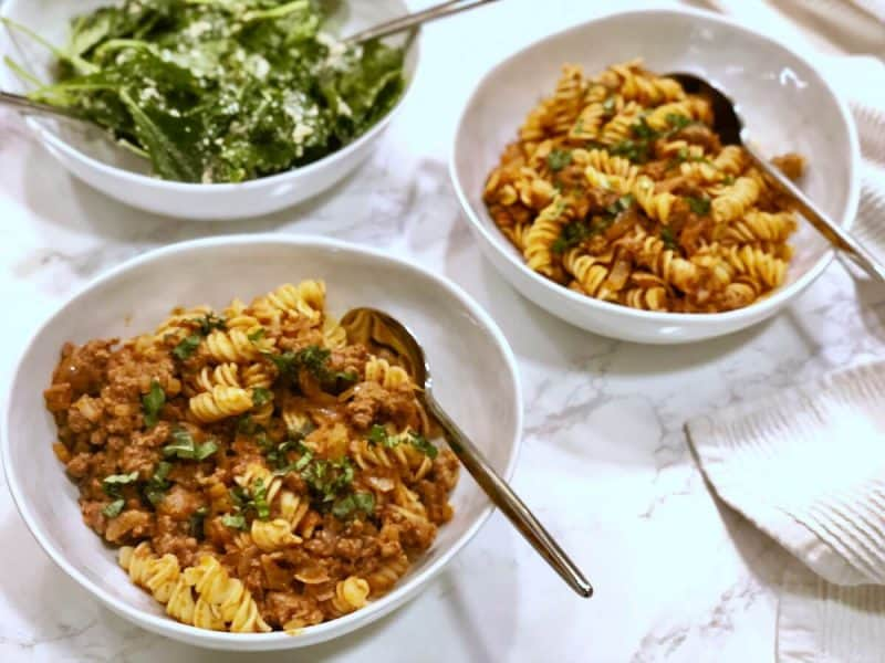 Easy Fusilli with Neapolitan ragù Time by Sun Basket