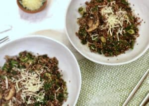 Kale and Garlic-Mushroom Quinoa by Terra's Kitchen
