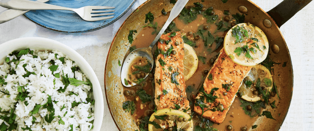 Salmon Piccata by Terra's Kitchen