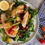 Chicken with Asparagus and Warm Tomato Salad by Terra's Kitchen