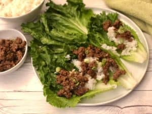 Stir fry beef lettuce wraps by Dinnerly