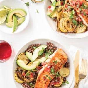 Southwest Salmon and Quinoa Bowls