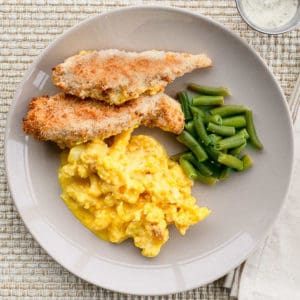 Chicken Fingers & Cauliflower Mac