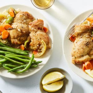 Lemon Roasted Chicken Thighs