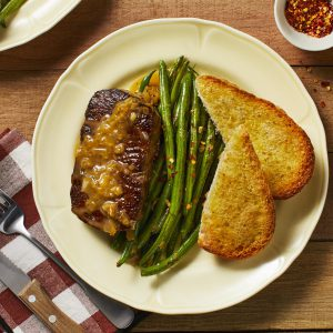 Steak with Shallot Pan Sauce