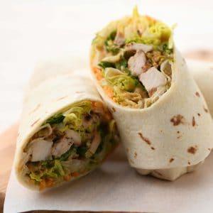 Crispy Jalapeño Cheddar Chicken Wrap