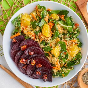 Quinoa Salad With Candied Nuts