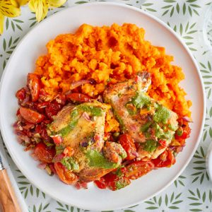 Roasted Chicken Thighs With Romesco