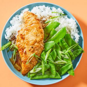 Kung Pao Chickenwith Jasmine Rice & Snow Peas