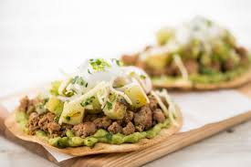 Home Chef Turkey and Guacamole Tostadas