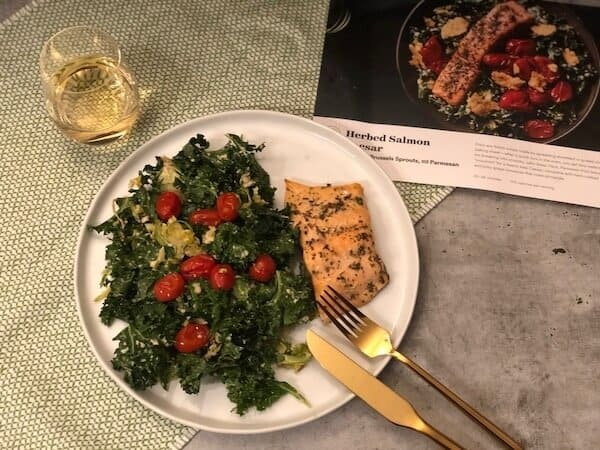 Review: Herbed Salmon Caesar by Plated