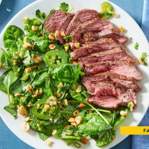 Seared Steak & Spinach Salad