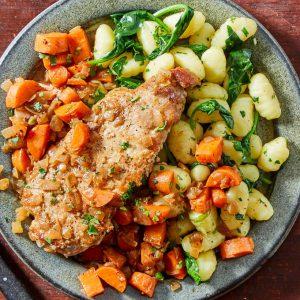 Saucy Pork Chops & Carrots