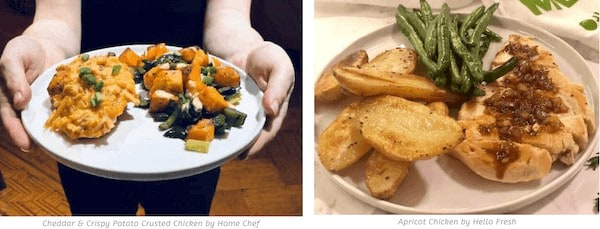 Hello fresh vs home chef dishes