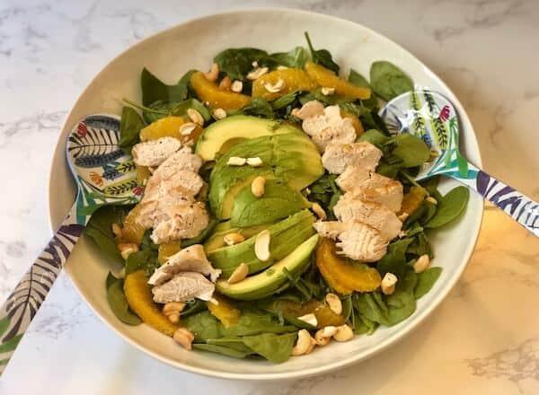 Orange, avocado and cashew salad by PlateJoy