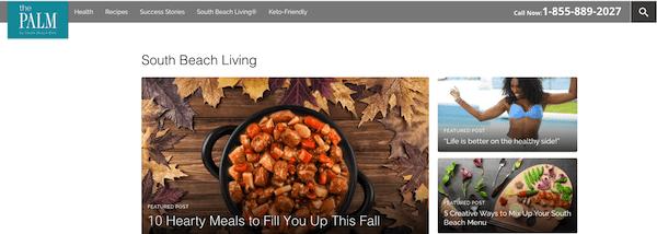 south beach diet- the palm blog
