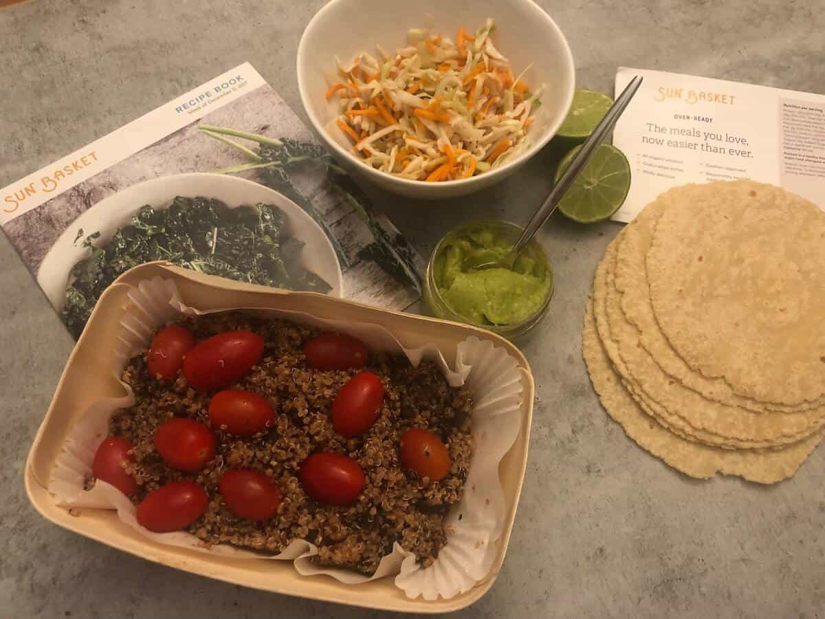 Review: Santa Monica Quinoa and Black Bean Tacos By Sun Basket