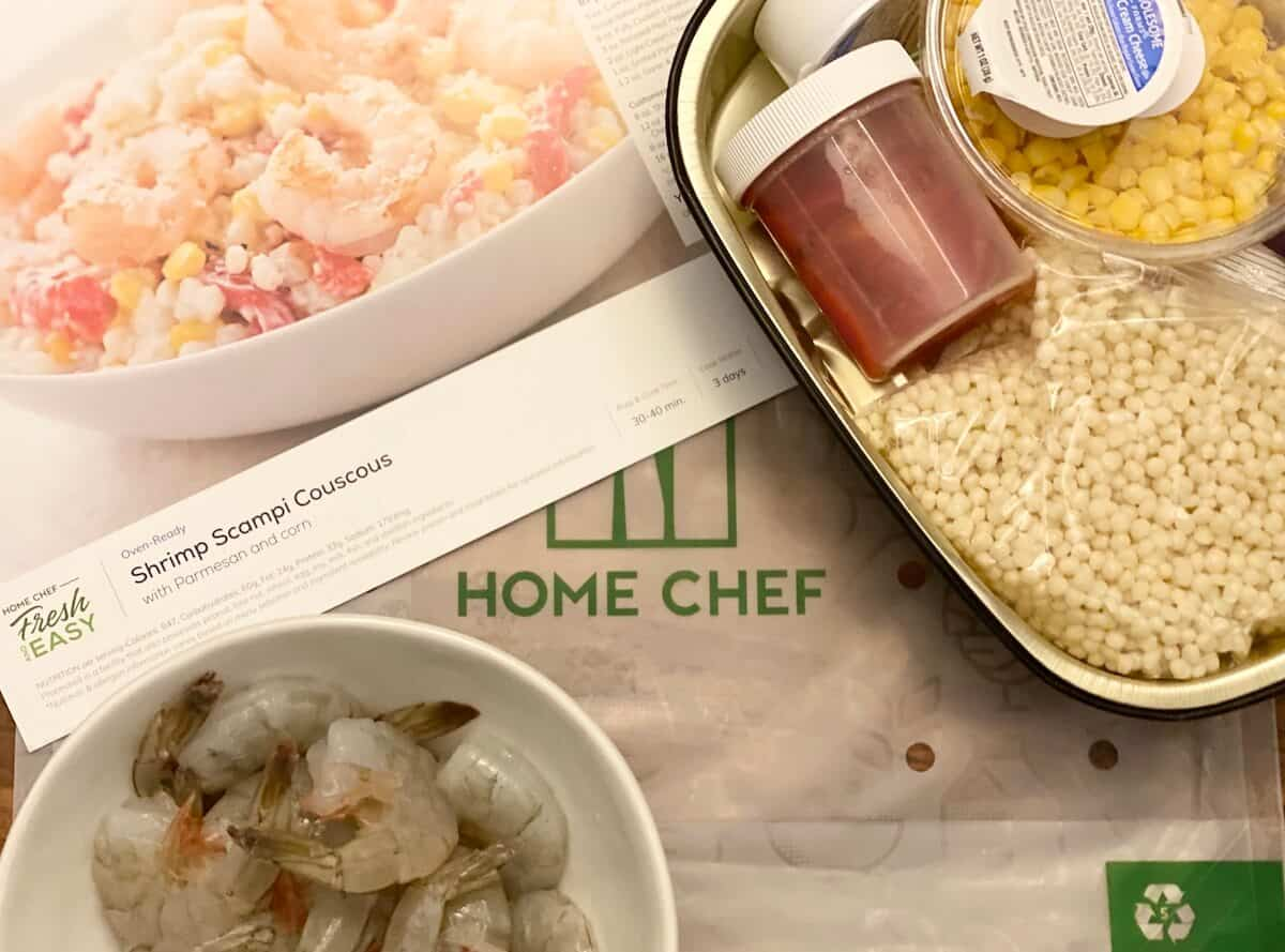 Home Chef Fresh and Easy: Shrimp Scampi Couscous