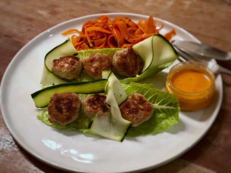 Lettuce wrapped Turkey Burgers by Sun Basket