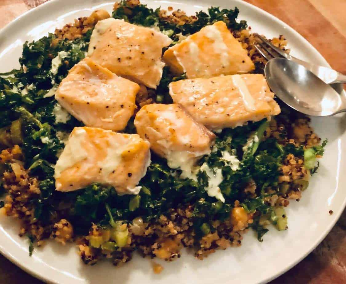Review: Salmon and Quinoa Bowl with Wilted Greens by Sun Basket