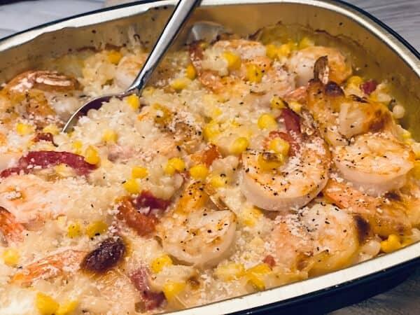 Oven ready shrimps scampi couscous