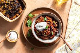 Classic Beef Chili with Cheddar and Greek Yogurt  by Sun Basket Oven Ready